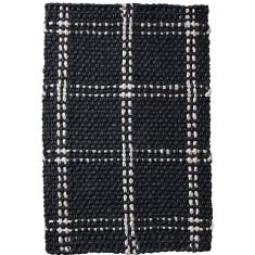 Panama check iron rug