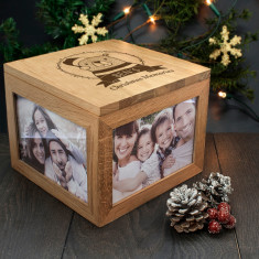 Personalised Woodland Bear Christmas Memory Box