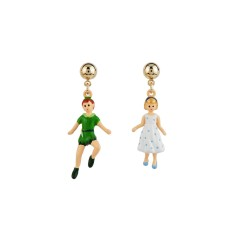 Peter Pan and Wendy flying earrings