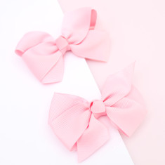 Soft grosgrain hair bow clip pastel colours