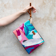 Abstract Large pouch or clutch bag