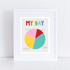 my day pie chart art print