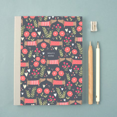 Personalised Dog Pattern Notebook