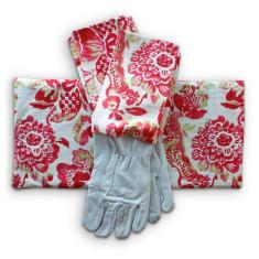 Gardener's kneeling pad & gloves in Strawberry Boho