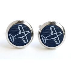 Navy Aeroplane Cufflinks