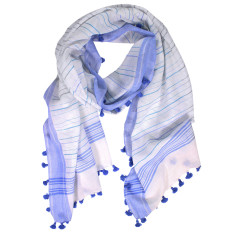 Deedee stripe hand loomed cotton wrap (various colours)