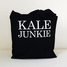Kale junkie tote bag