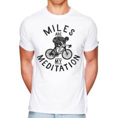 Miles are my meditation t-shirt in white
