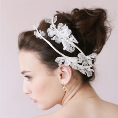 Lace flowers hair hoop