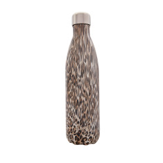 S'well insulated stainless steel bottle in Textile Khaki Cheetah