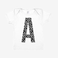 Personalised Monogram Animal Print Baby T-Shirt
