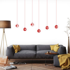 Christmas balls wall decal