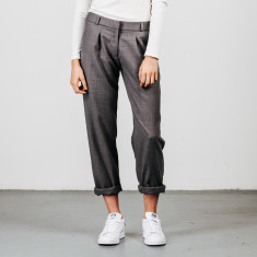 Wool pleat pants