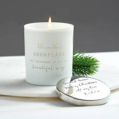 We are like a snowflake Personalised Luxe Candle