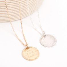 Personalised beaded disc necklace