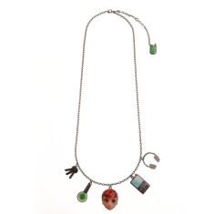Red doll charms necklace