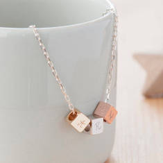 Personalised Dice Trio Necklace