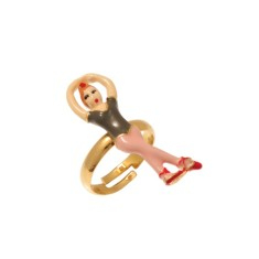 Ballerina adjustable ring