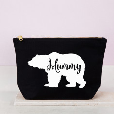 Personalised Mummy Bear Mother's Day Cosmetic Bag