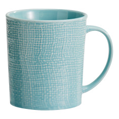 Blue Textured Ceramic Mug