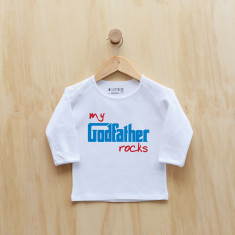 My godfather rocks long sleeve t-shirt in blue or pink