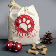 Personalised Pets Treat Bag And Mini Gift Sack