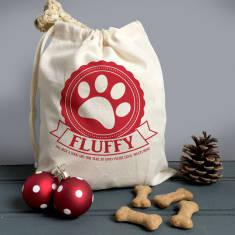 Personalised Pets Treat Bag And Mini Gift Sack