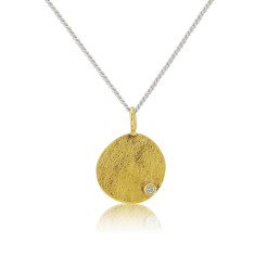 Ophelia Gold Disc with Diamond