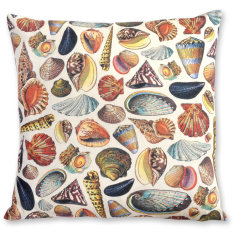 Mollusques linen cushion cover