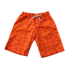 Boys' chlorine-resistant boardshorts in Surfing Dogs Rush