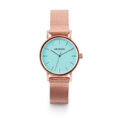 Mr Boho Metallic Mini Copper Aqua Blue Watch