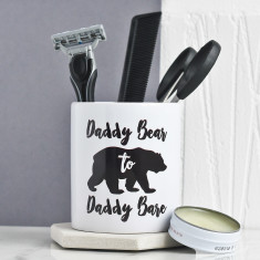 Personalised Daddy Bear Grooming Pot