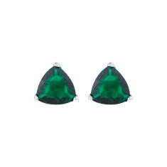 Crystal studs in emerald green