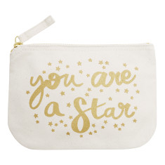 You Are A Star Little Canvas Pouch