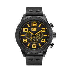 CAT CAMDEN Dual-Time series watch in Black & Yellow