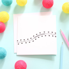 Pitter patter new born card