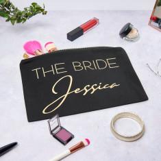 Personalised The Bride Make Up Bag