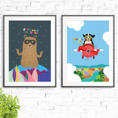 Don't poke the bear & Dream Big Prints (2 Pack)