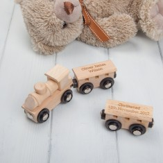 Personalised Natural Wood Magnetic Train