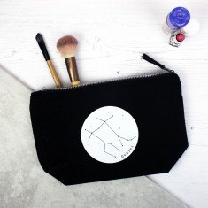 Constellation personalised star sign makeup bag