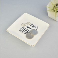 Personalised Men's Coin & Trinket Dish