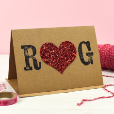 Personalised Initial Valentine Card