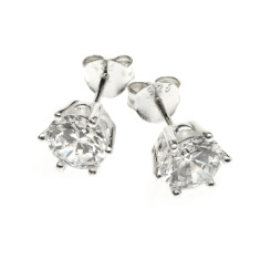 Large clear stud earrings