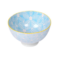 Printed Bowls in Blue (Set of 4)