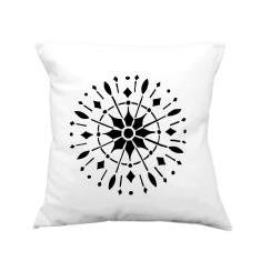 Compass rose handmade cushion cover