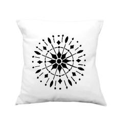 Compass rose handmade cushion cover