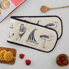 Nautical Beachscape Oven Glove
