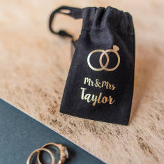 Personalised Wedding Ring Mini Pouch