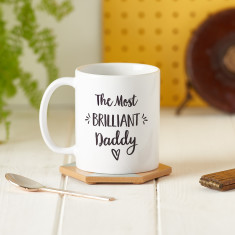 Personalised Brilliant Dad Mug