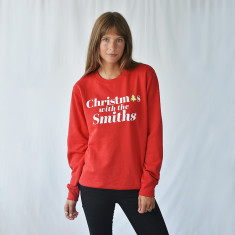 Christmas With The…' Personalised Unisex Jumper Sweatshirt